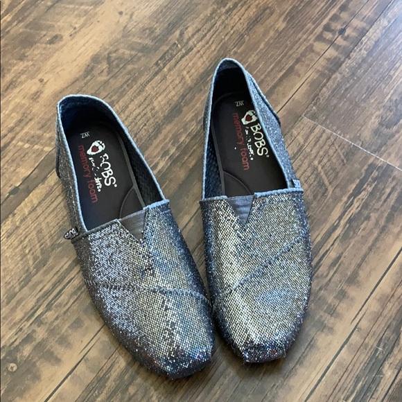 Skechers Shoes | Silver Glitter Bobs